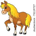 Cartoon Walking Horse   Vector...