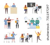 doctors and patients with... | Shutterstock .eps vector #731197297