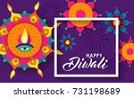 happy diwali festival | Shutterstock .eps vector #731198689