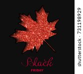 black friday sale poster with... | Shutterstock .eps vector #731198929