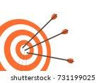 target with arrows. vector... | Shutterstock .eps vector #731199025