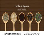 vector illustration of spices...   Shutterstock .eps vector #731199979