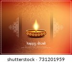 abstract happy diwali elegant... | Shutterstock .eps vector #731201959