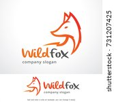 wild fox logo template design... | Shutterstock .eps vector #731207425