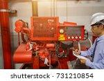 diesel generator for fire... | Shutterstock . vector #731210854