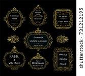 gold decorative frame.vintage... | Shutterstock .eps vector #731212195