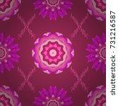 pretty vintage feedsack pattern ... | Shutterstock .eps vector #731216587