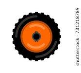 tractor wheel isolated. wheel... | Shutterstock .eps vector #731218789