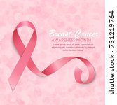 breast cancer awareness month... | Shutterstock .eps vector #731219764