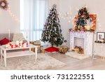 interior of beautiful room with ... | Shutterstock . vector #731222551
