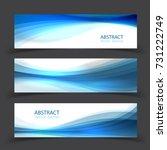 set of banner templates. ... | Shutterstock .eps vector #731222749