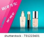vector 3d cosmetic illustration ...   Shutterstock .eps vector #731223601