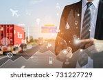 logistics concept  business man ...   Shutterstock . vector #731227729