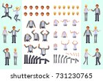 cartoon business man and woman... | Shutterstock .eps vector #731230765
