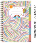 bright spiral notebook with... | Shutterstock .eps vector #73123447