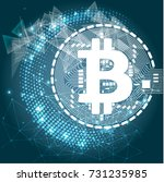 bitcoin crypto currency... | Shutterstock .eps vector #731235985