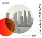 design element for corporate... | Shutterstock .eps vector #731236699