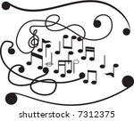 tunes on background with black | Shutterstock .eps vector #7312375