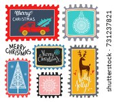christmas marks. icons  symbols ... | Shutterstock . vector #731237821