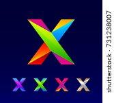 letter x logotype design set... | Shutterstock .eps vector #731238007