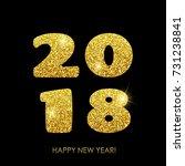 happy new year 2018. vector new ... | Shutterstock .eps vector #731238841