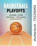 basketball vector poster game... | Shutterstock .eps vector #731246401