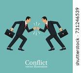 business conflict concept....   Shutterstock .eps vector #731246539