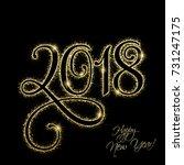 happy new year 2018. vector new ... | Shutterstock .eps vector #731247175