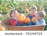 happy kids laughing inside... | Shutterstock . vector #731249725