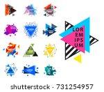 sacred geometry triangle... | Shutterstock .eps vector #731254957