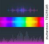 vector digital music equalizer... | Shutterstock .eps vector #731255185