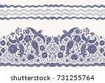 vector seamless border in... | Shutterstock .eps vector #731255764