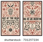 day of the dead. dia de los...   Shutterstock .eps vector #731257234