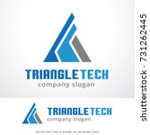 abstract triangle logo template ... | Shutterstock .eps vector #731262445