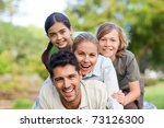 happy family in the park | Shutterstock . vector #73126300