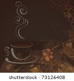 cup of hot black coffee | Shutterstock .eps vector #73126408