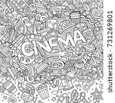 cartoon cute doodles hand drawn ... | Shutterstock .eps vector #731269801