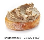 toasted bread with homemade... | Shutterstock . vector #731271469