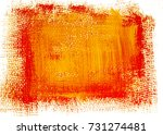 red yellow grunge painted... | Shutterstock . vector #731274481