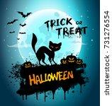 halloween night background... | Shutterstock .eps vector #731276554