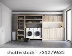 modern laundry room interior... | Shutterstock . vector #731279635