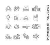 simple engineer icons set vector | Shutterstock .eps vector #731293411