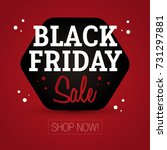black friday sale   shop now | Shutterstock .eps vector #731297881