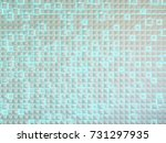 abstract architectural 3d... | Shutterstock . vector #731297935