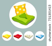 color icons stacked bed linen... | Shutterstock .eps vector #731301415