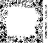 frame of stars. black and white ...   Shutterstock .eps vector #731303755