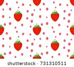 seamless strawberry pattern on... | Shutterstock .eps vector #731310511