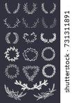 set of vector elements. hand... | Shutterstock .eps vector #731311891