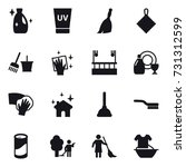 16 vector icon set   cleanser ... | Shutterstock .eps vector #731312599
