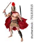 ancient warrior or gladiator...   Shutterstock . vector #731315515